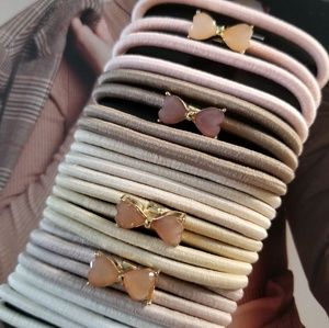 24 Bow gold detail HAIR TIES.